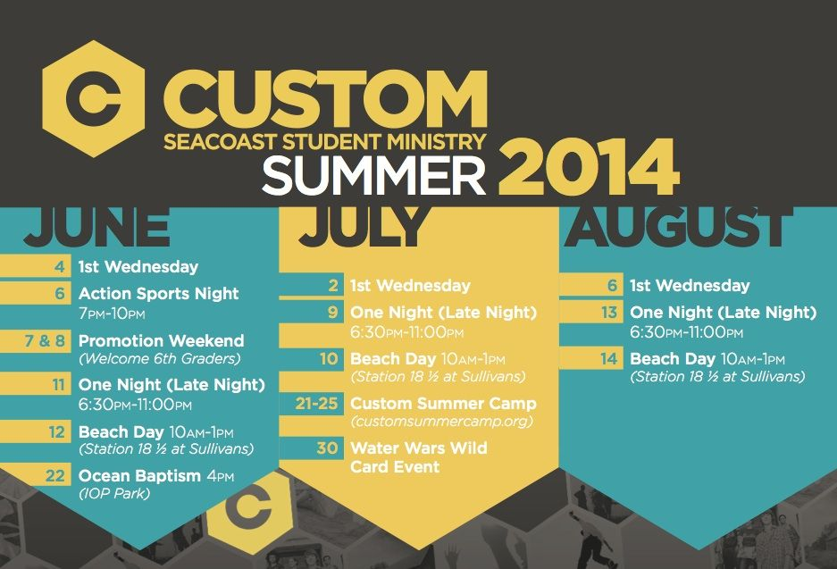 Church Calendar Design.Summer Calendar H2o Summer Calendar Church Graphic Design