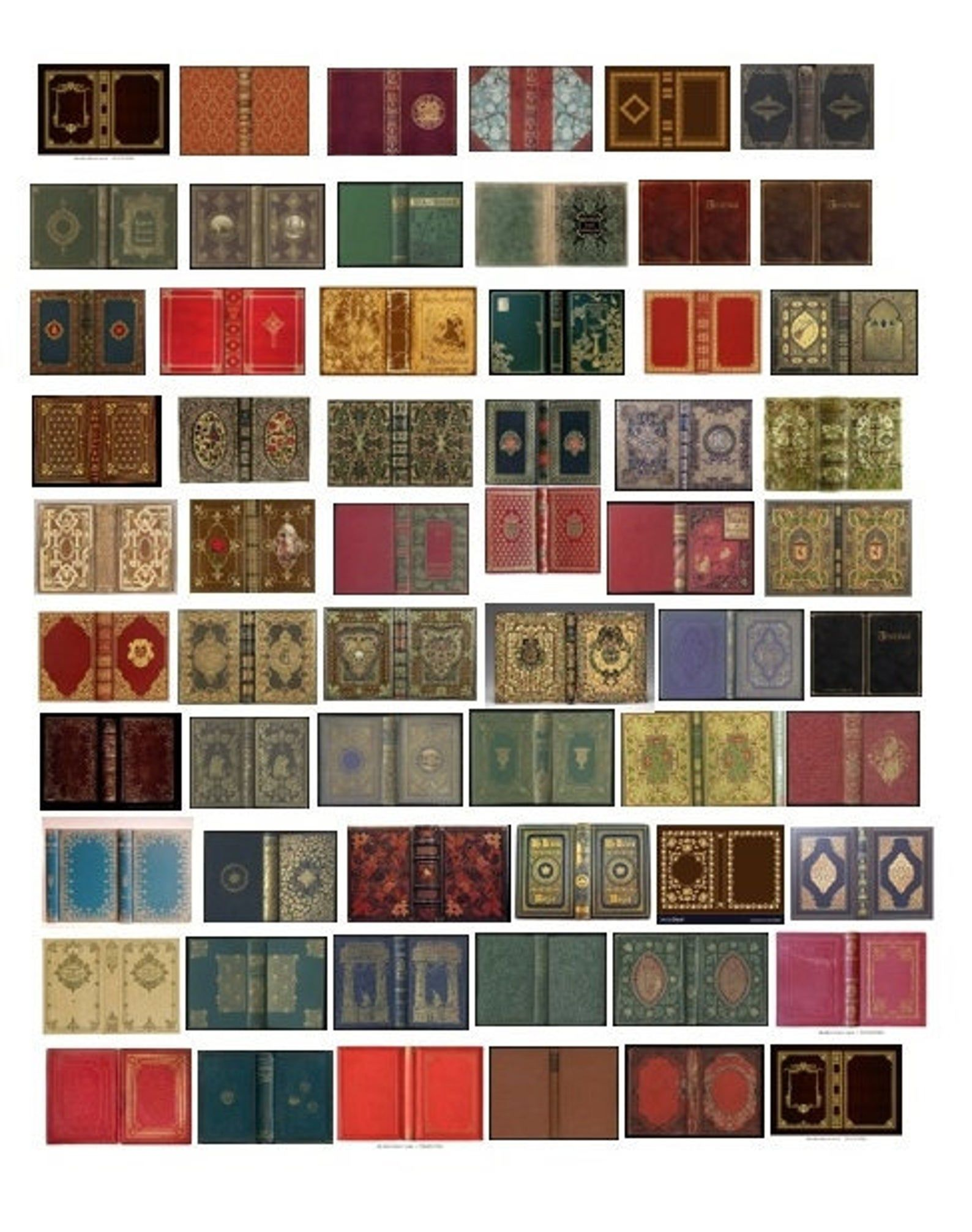 Printable Miniature Book Covers Antique Only
