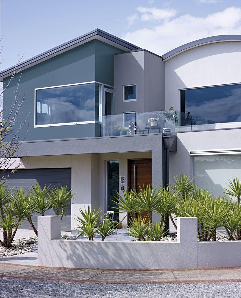 Gray Roof Paint: Exterior Colour Scheme Facade: Deep Ocean Main Walls