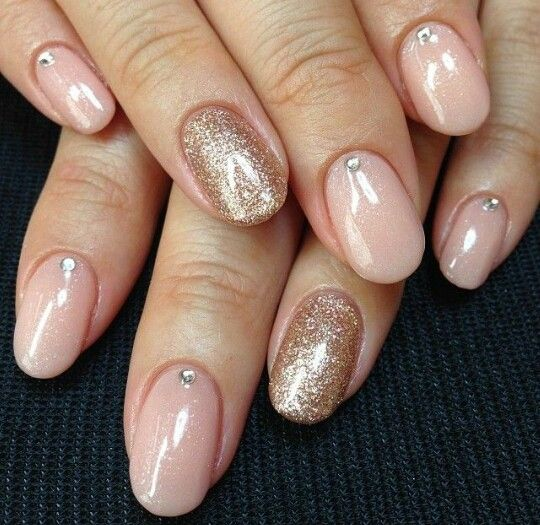 Nude And Sparklylove This Combo Makeup Nails Skin Care