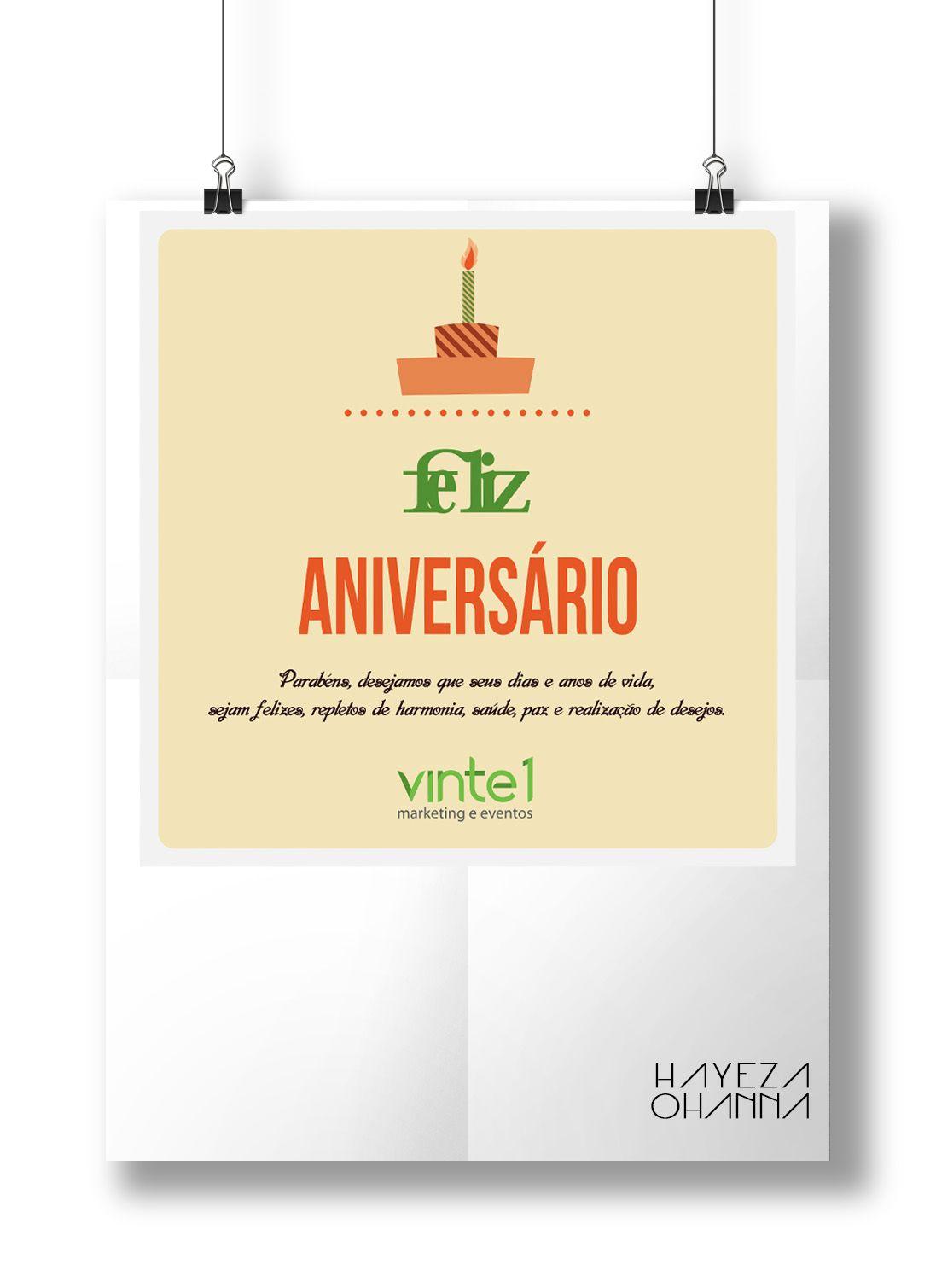 cartão de aniversário clientes