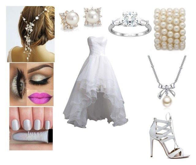 Wedding collection by aliciawwayne on Polyvore featuring moda, Aquazzura, MBLife.com and Blue Nile