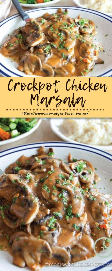 Crockpot Chicken Marsala #crockpotrecipe #dinner images