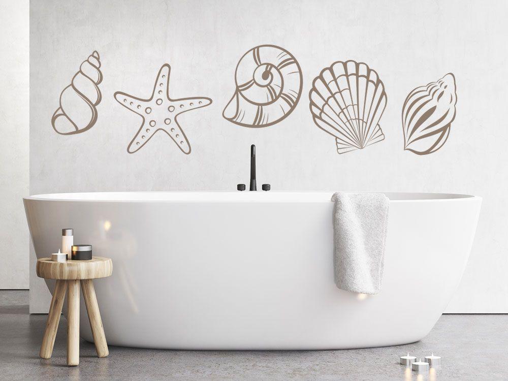 Wandtattoo Muscheln - Wandtattoos Fürs Badezimmer
