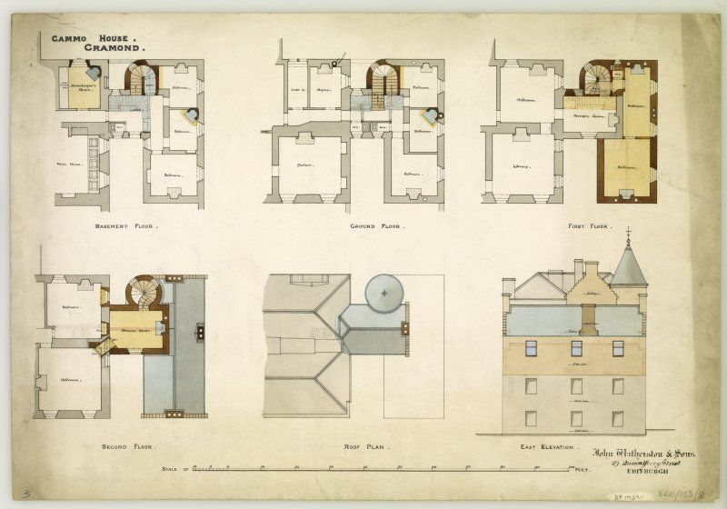 Edinburgh Cammo Road Cammo House Floor Plans Roof Plan Roofing