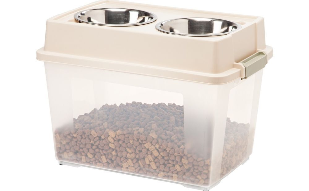 Deluxe Container Large Dog Feeder Bowl Airtight Food Storage 2