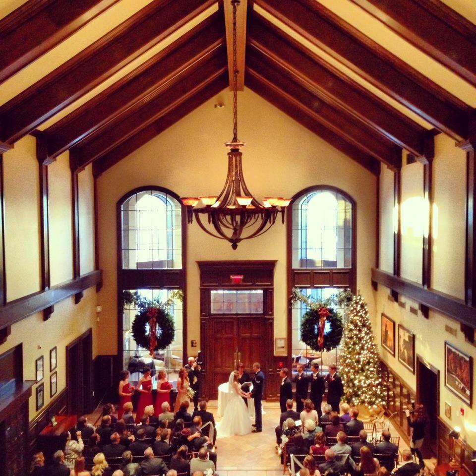 Saratoga National Golf Club Christmas Wedding Ceremony Springs Ny