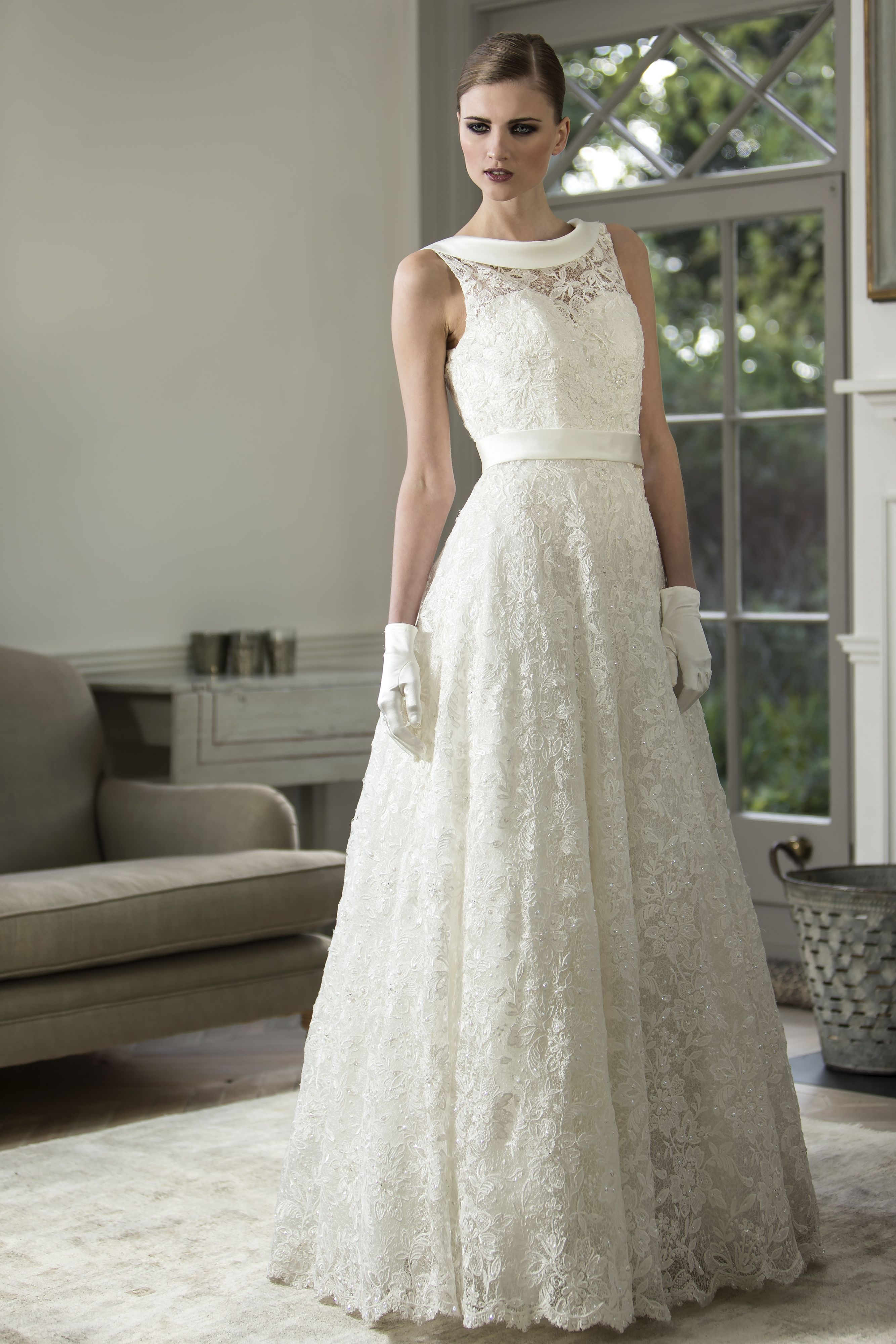Nicki flynn eloise stunning aline guipure lace bridal gown with