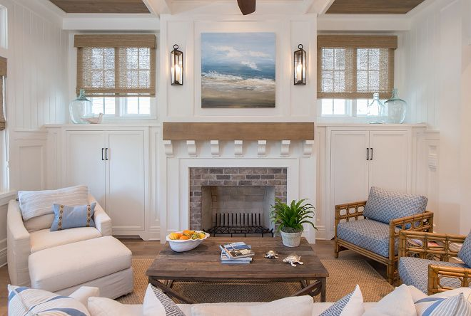 Living Room With Fireplace And Windows like the look of the fireplace d design with board and bat and the