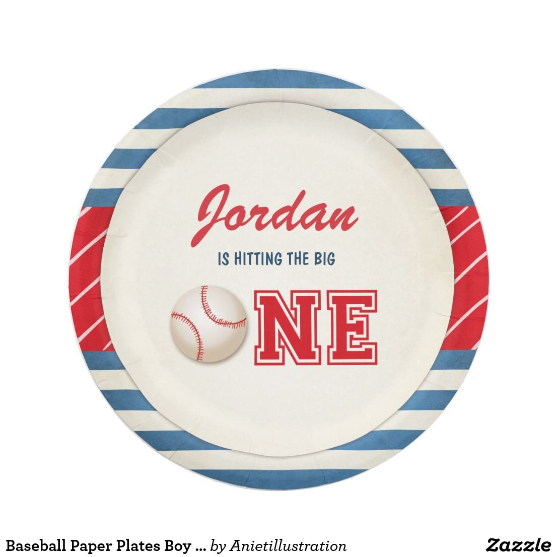 Baseball Paper Plates Boy Birthday Big one Sports ? A perfect addition to your party!  sc 1 st  Pinterest & Baseball Paper Plates Boy Birthday Big one Sports | Boy birthday and ...