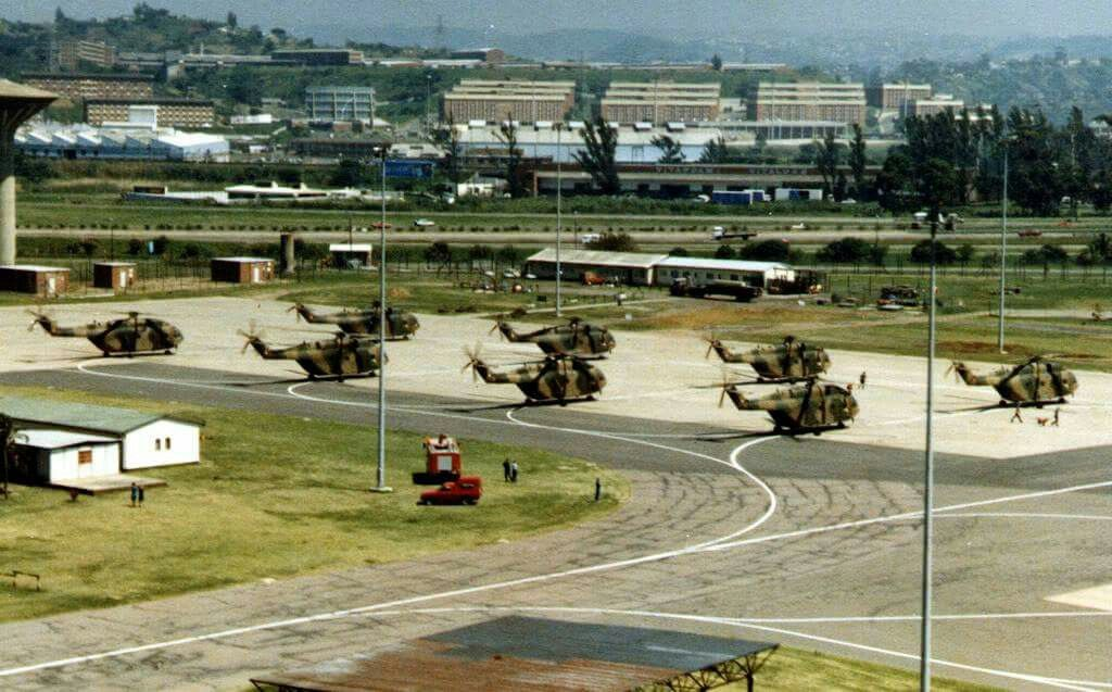 South African Air Force Super Frelons at Louis Botha AFB Durban