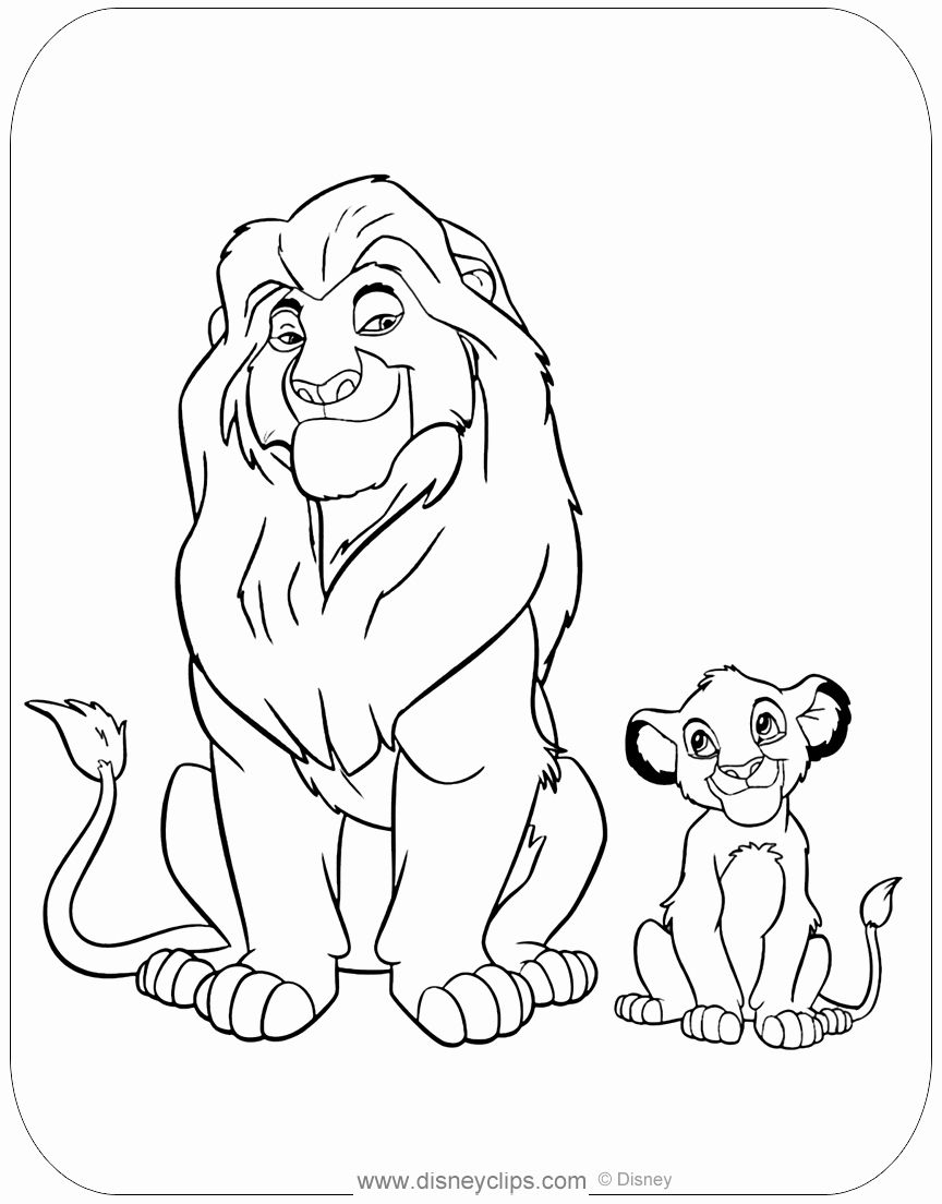 Lion King Colouring Worksheet Amazing Design