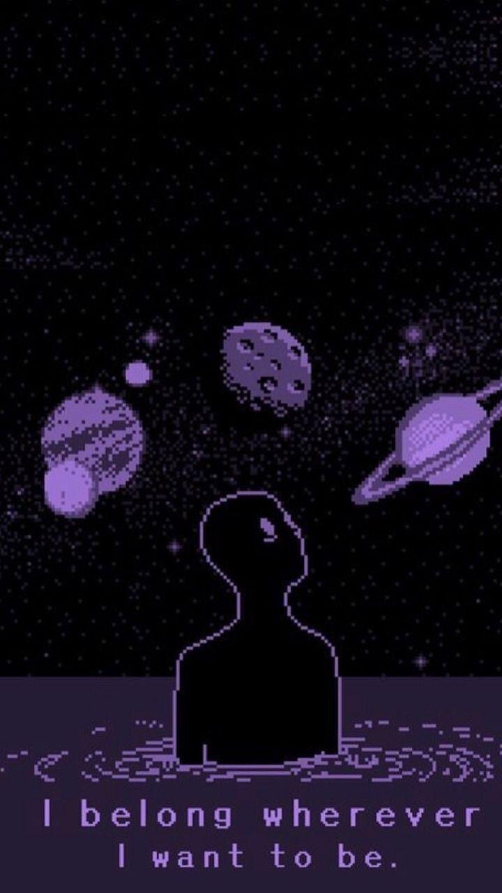 space theme pixel art