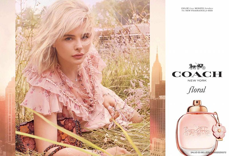Chloe Grace Moretz Looks Carefree In Coach Floral Campaign Coach Floral Chloe Grace Moretz Floral Perfumes