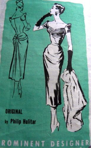 50s Prominent Designer A896 by Philip Hulitar Sz12/30 complete/cut 91+1.99 23bds 2/7/14