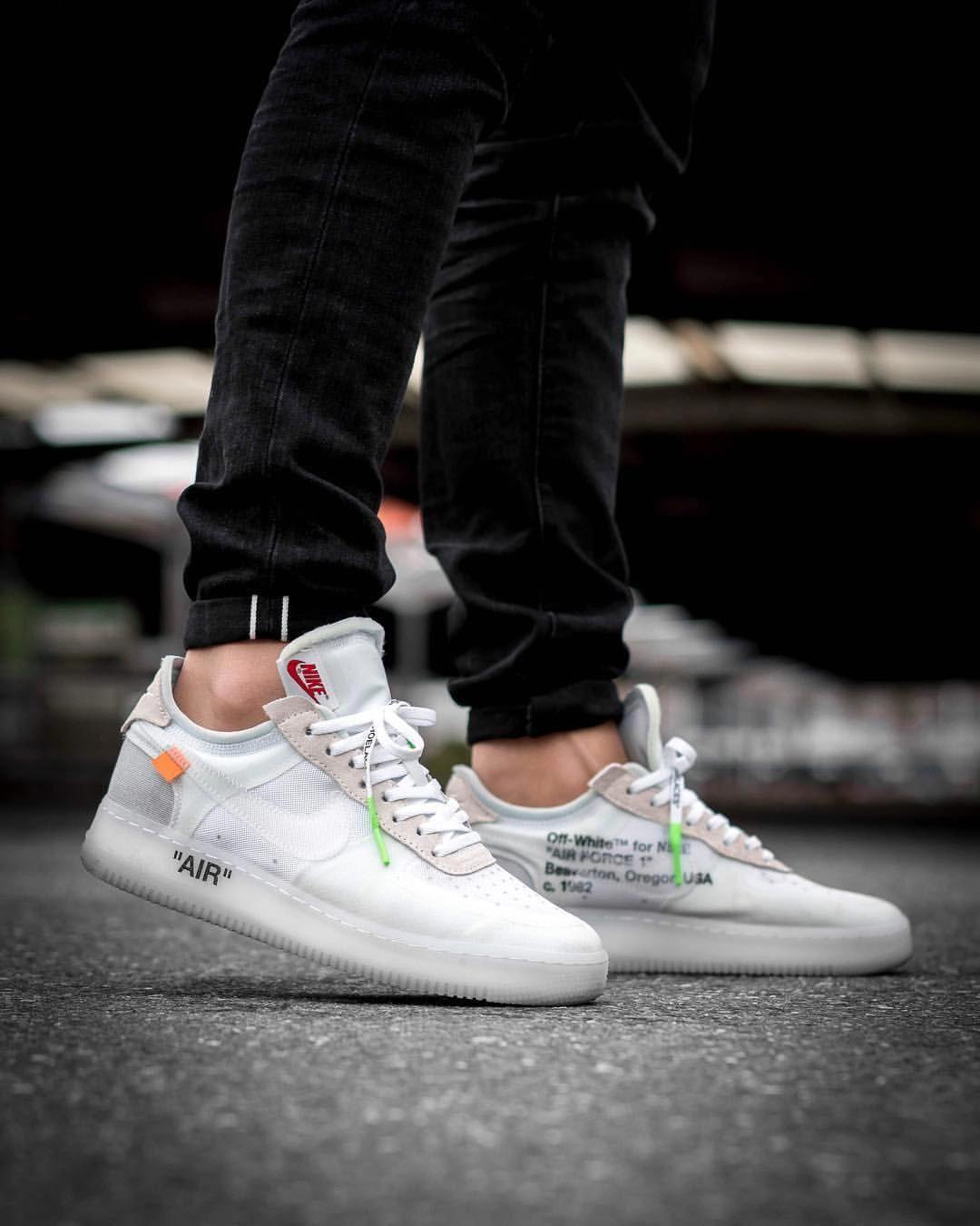 bbc54749e60e2 OFF WHITE x Nike Air Force 1 #Sneakers   Sneakers   White nike shoes ...