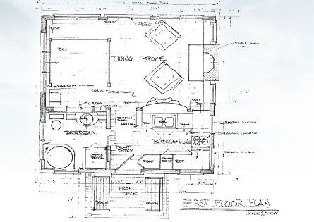 Creativecottagesllc floor plan for cottage google search for Ocean house plans