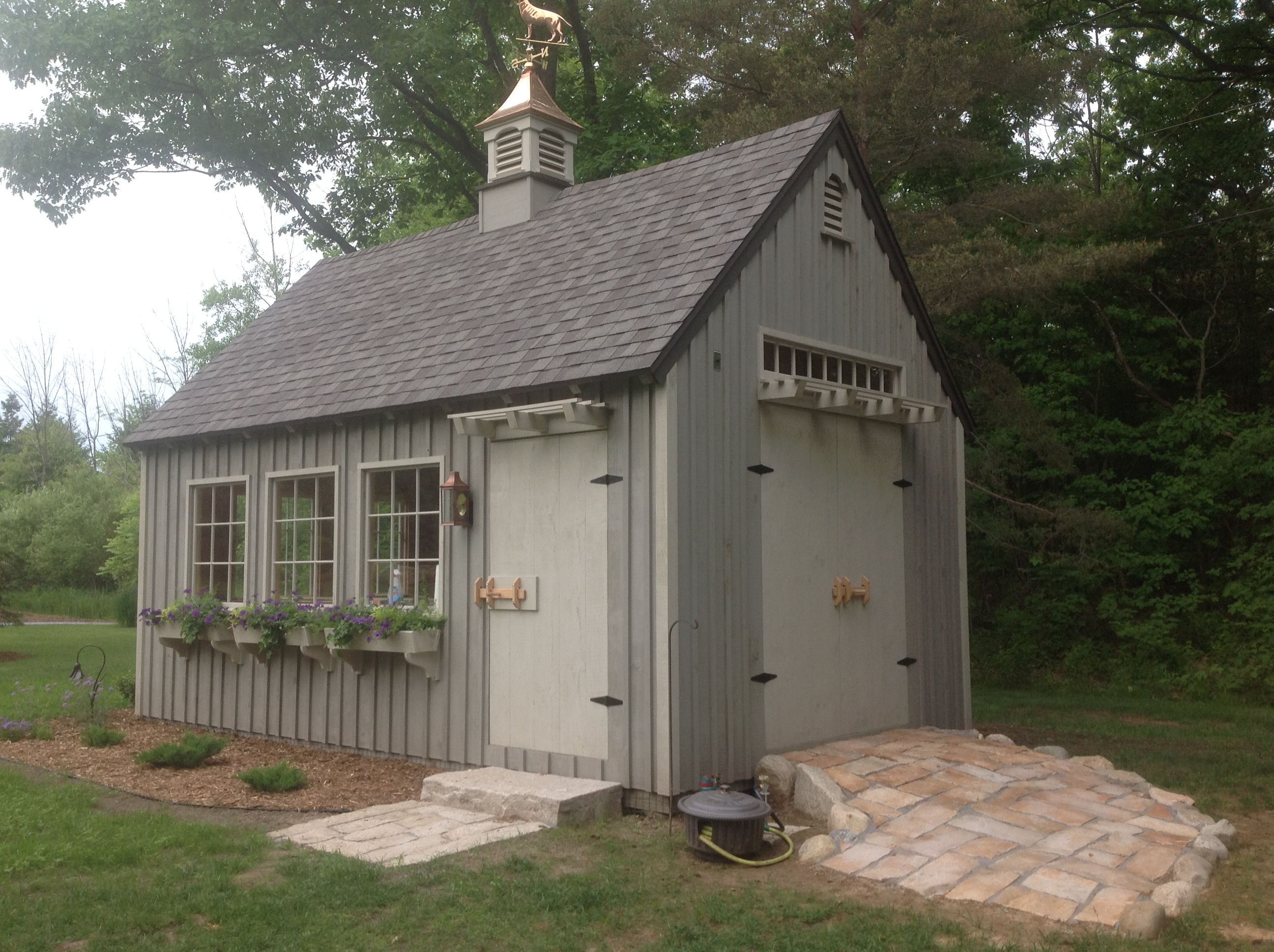 Our 12 X 20 Even Pitch Post Beam Garden Shed Www Countrycarpenters Com Backyard Sheds Building A Shed Outdoor Sheds