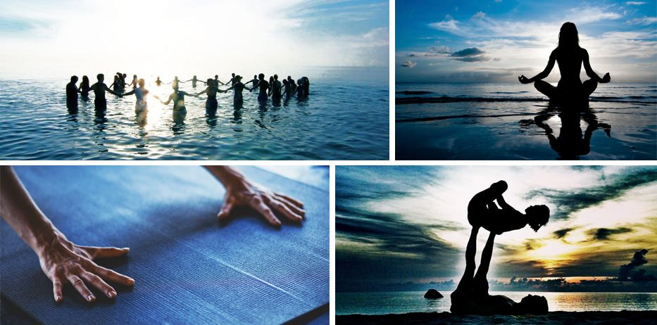 yoga collage