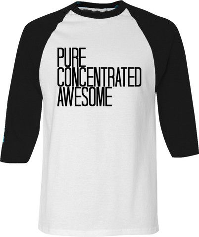 Pure Concentrated Unisex Raglan - Pure Concentrated Awesome - Adult Tee by whiskeygingercollective.com - $34.00