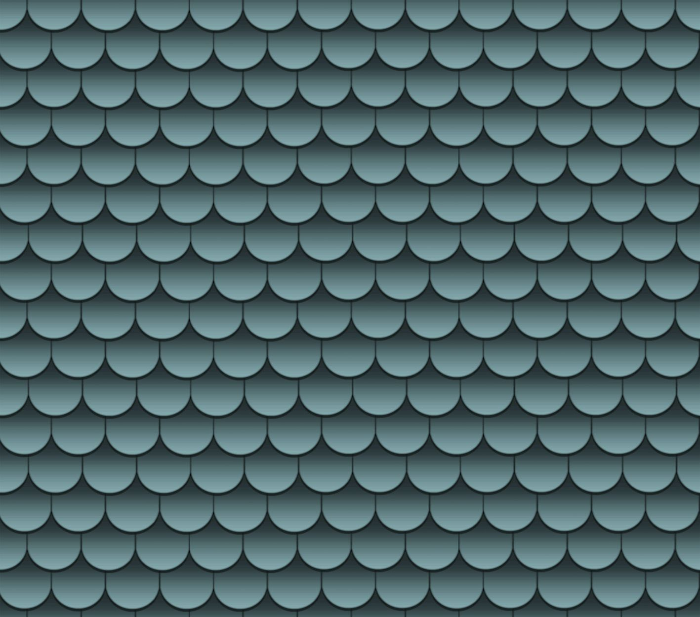 Blue Scallop Roof Shingles