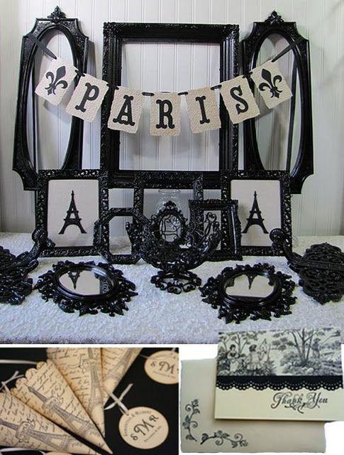 Paris & black wedding inspiration board http://nicolerenedesign.blogspot.com/2011/11/friday-fancies-12-wedding-inspiration.html