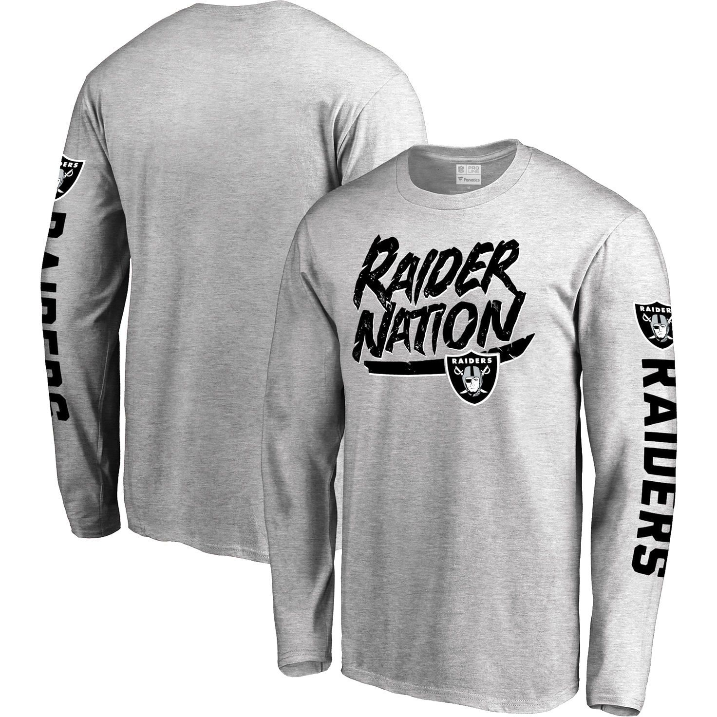 Oakland Raiders Pro Line Hometown Collection Long Sleeve T-Shirt -  Heathered Gray -  25.59 55dc43780