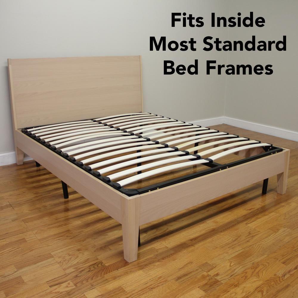 Sleep Options Europa Queen Size Wood Slat And Metal Platform Bed