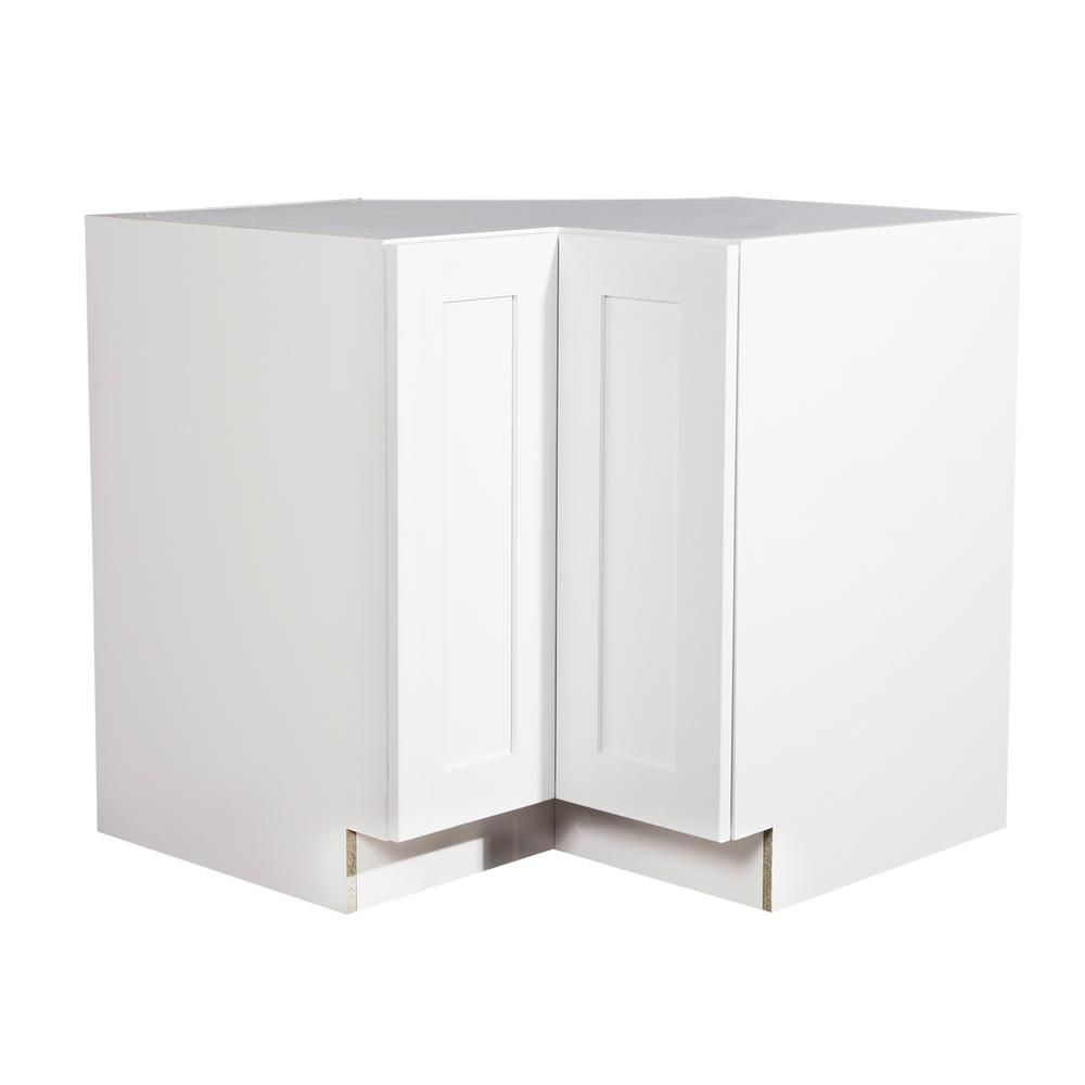 Corner base kitchen cabinet  Ready to Assemble xx in Shaker BiFold Door Easy Reach