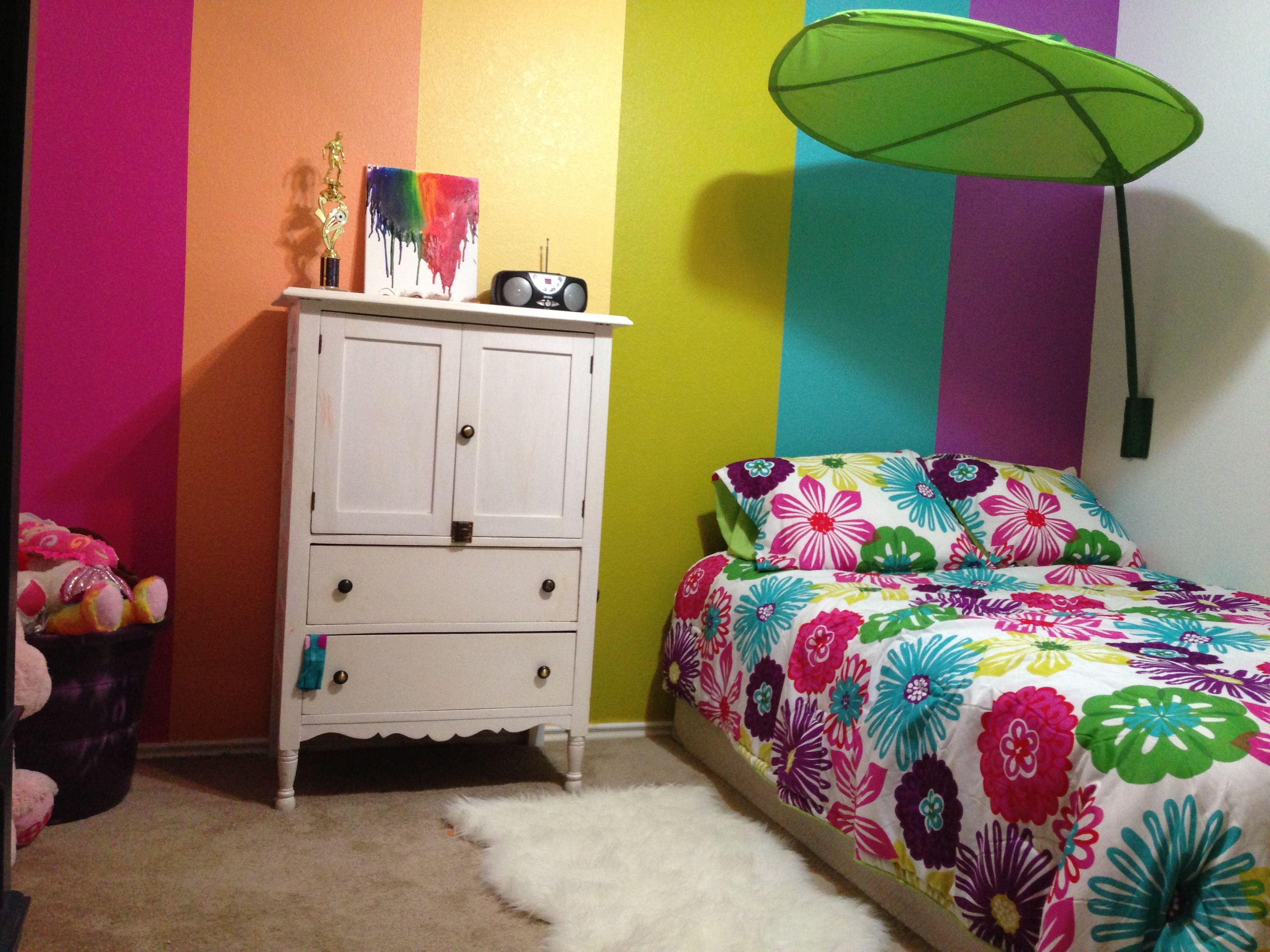 My 5 year old\'s rainbow room! | Girls Rooms | Rainbow ...