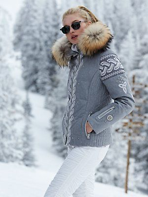 gala-dp wool jacket with fur  91b915f6b