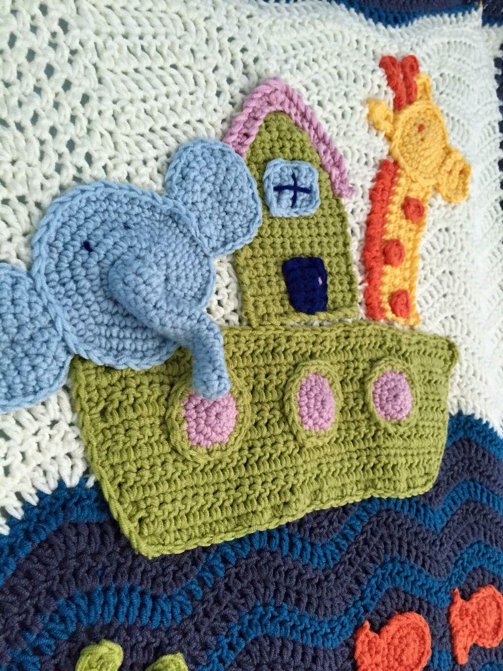 Noah\'s Ark Crochet Blanket (inspired by Michele Wilcox) | Κουβέρτες ...
