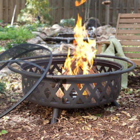 Amazon Com Extra Large 36 In Black Diamante Fire Pit Patio Lawn Garden Fire Pit Large Fire Pit Wood Fire Pit