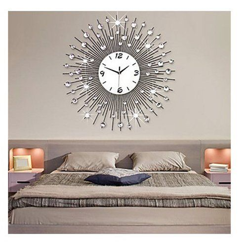 Charming Timeless And Cute Unique Wall Clocks Home Wall Art Decor Wall Clocks Living Room Silver Wall Clock Large Mirrored Wall Clock
