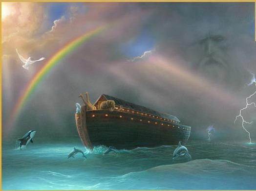 Noah's Flood - Foreshadowing Baptism | Noah flood, Noahs ark, Bible pictures