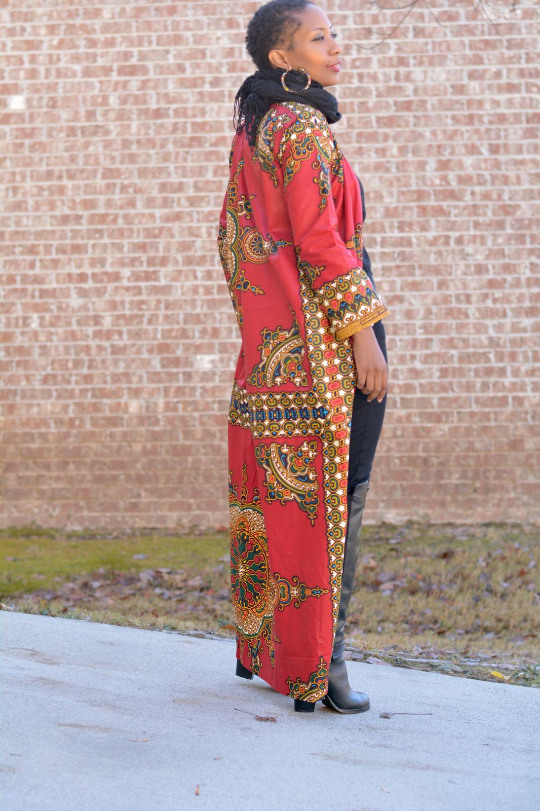 DIY African Print Duster Coat