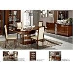 ESF Furniture - Roma Walnut Dining Table - ROMA-DT-WNT