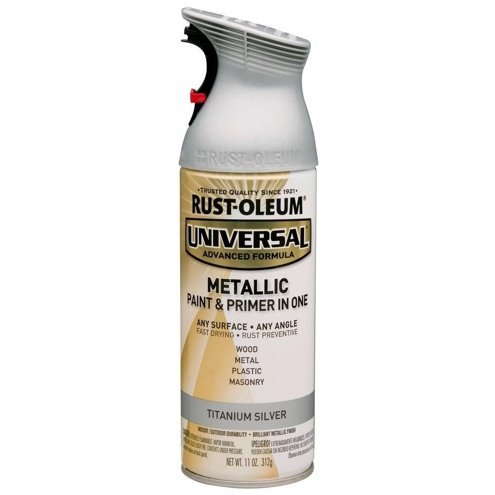 Rust-Oleum Universal 11 oz. All Surface Metallic Titanium Silver ...