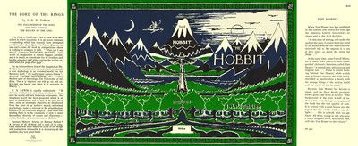 Tolkien The Hobbit Facsimile Dust Jacket for 1966 Book
