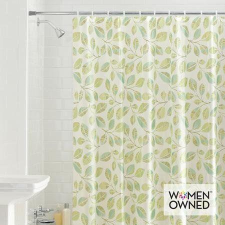 Mainstay Fiji Leaves PEVA Shower Curtain Mainstays