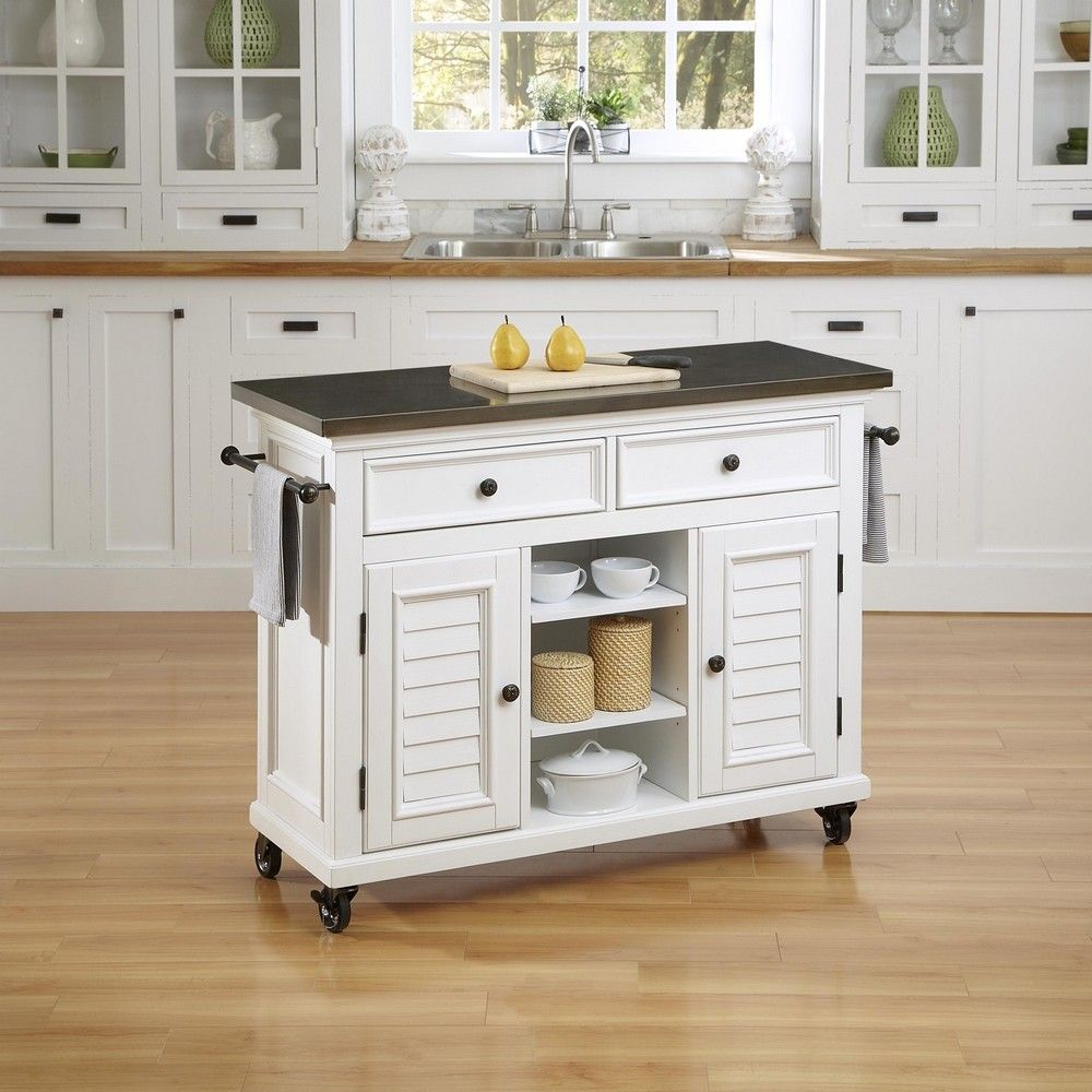 Exceptional Bermuda Kitchen Cart In Brushed White     Lowest Price Online On All  Bermuda Kitchen Cart In Brushed White
