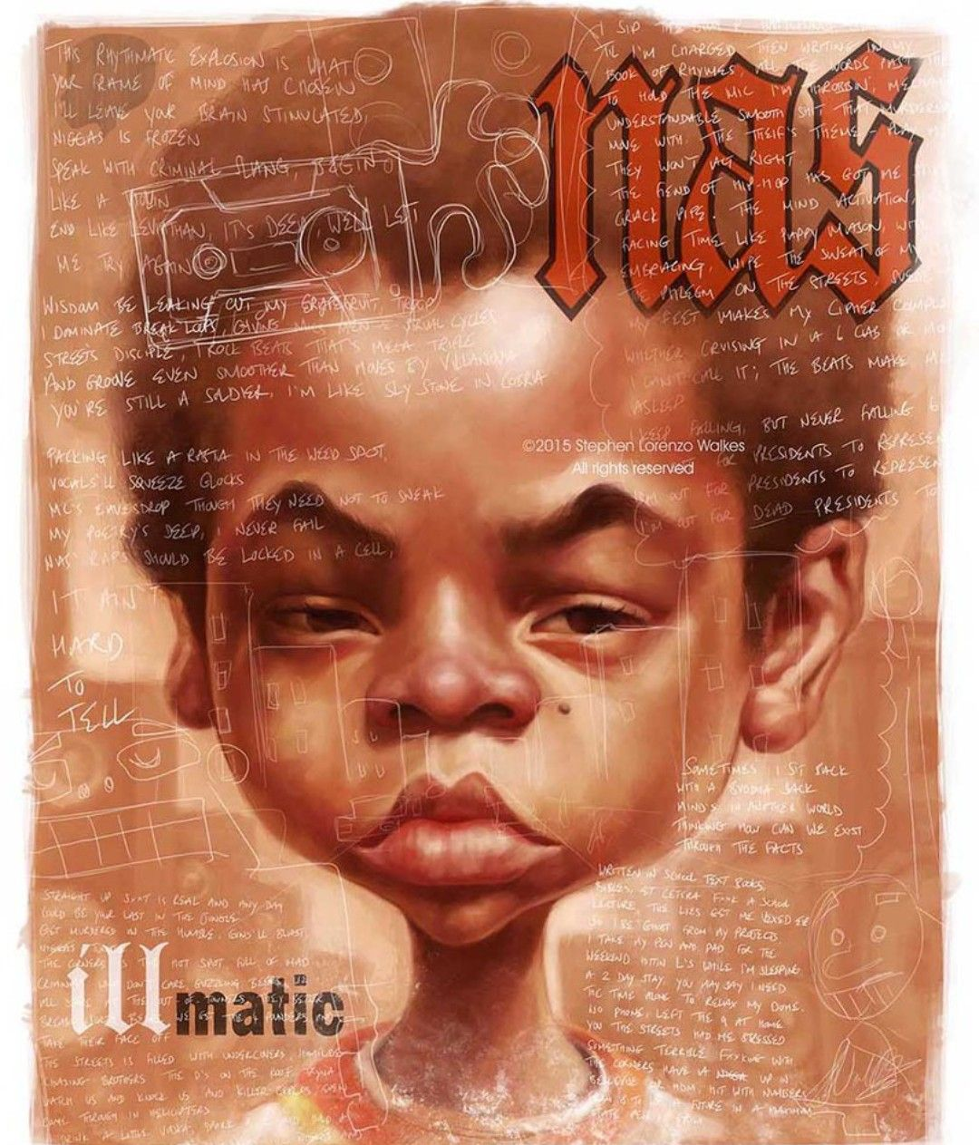 Nas Illmatic Art Hip Hop Illustration Hip Hop Art Hip Hop Artwork