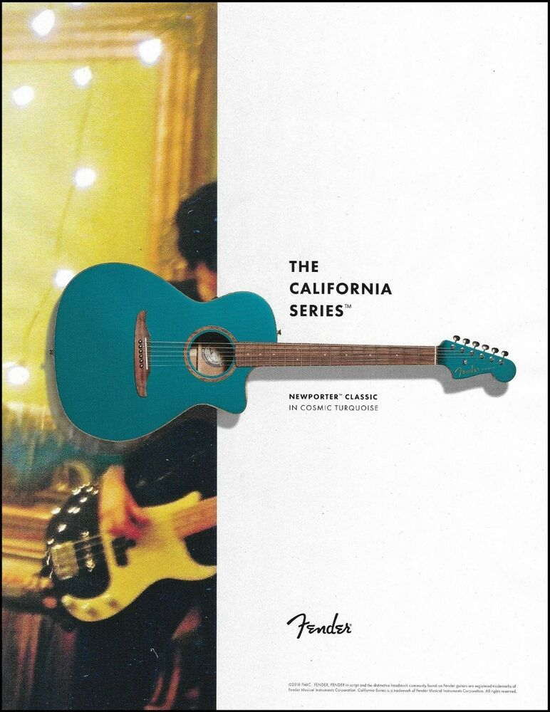 Fender California Series Newporter Classic Acoustic Guitar 8 X 11 Advertisement Fender Fender Guitar Amps Acoustic Guitar Washburn Acoustic Guitar