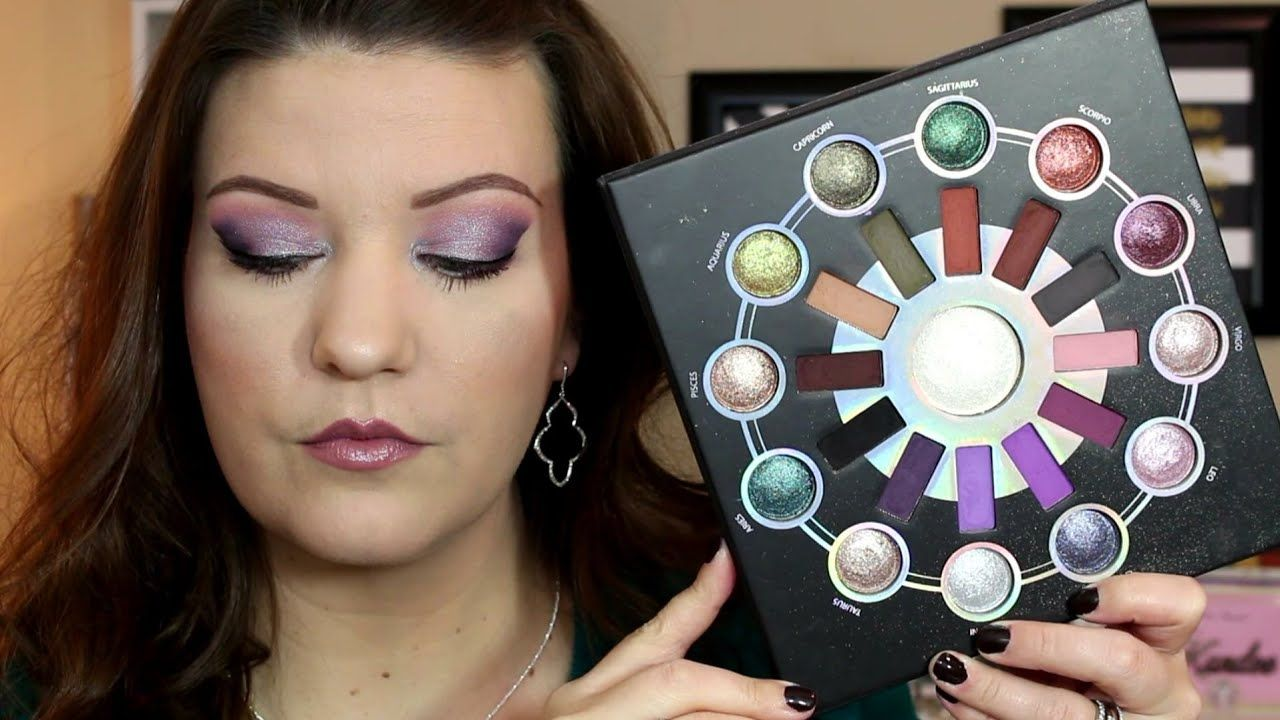 Bh Cosmetics Zodiac Palette Review Demo Purple Eye Look Bh