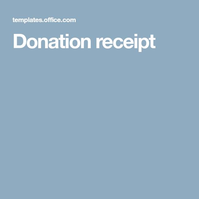 Donation Receipt Receipt Donate Fundraising