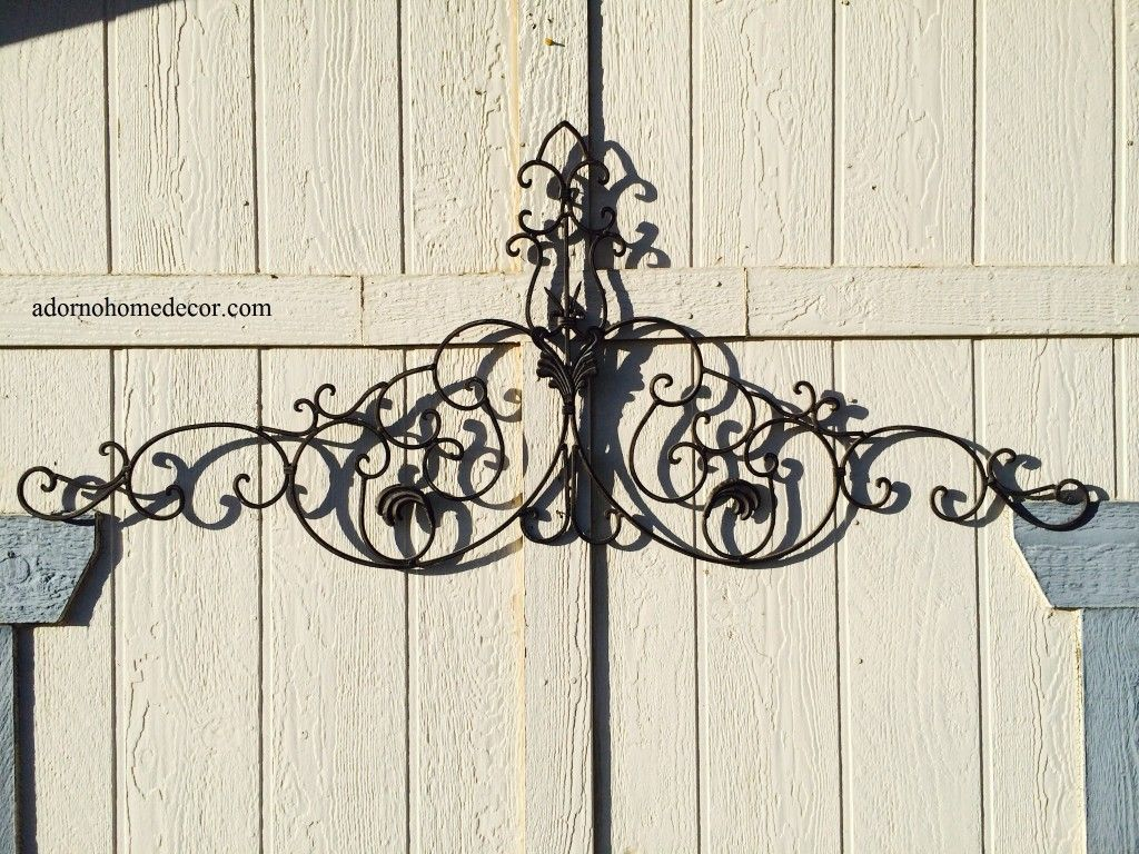 wrought iron wall designs large tuscan wrought iron metal wall decor rustic antique garden on wall - Wrought Iron Wall Designs