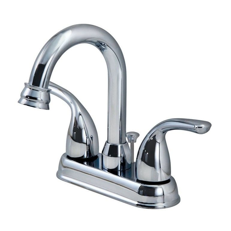 OakBrook Coastal Two Handle Lavatory Faucet 4 in. Chrome (Grey ...