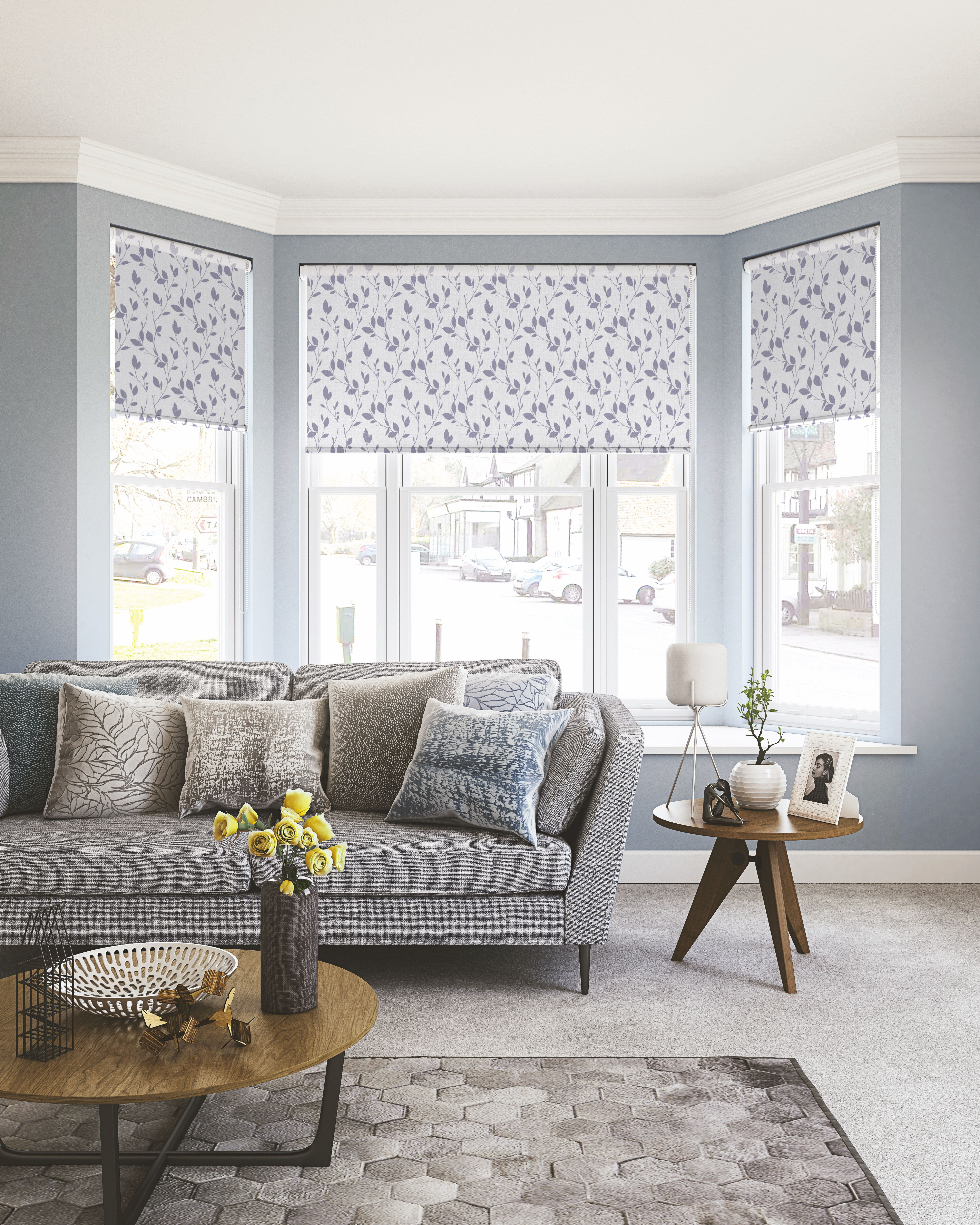 How amazing does this stylish living room look? These roller blinds ...