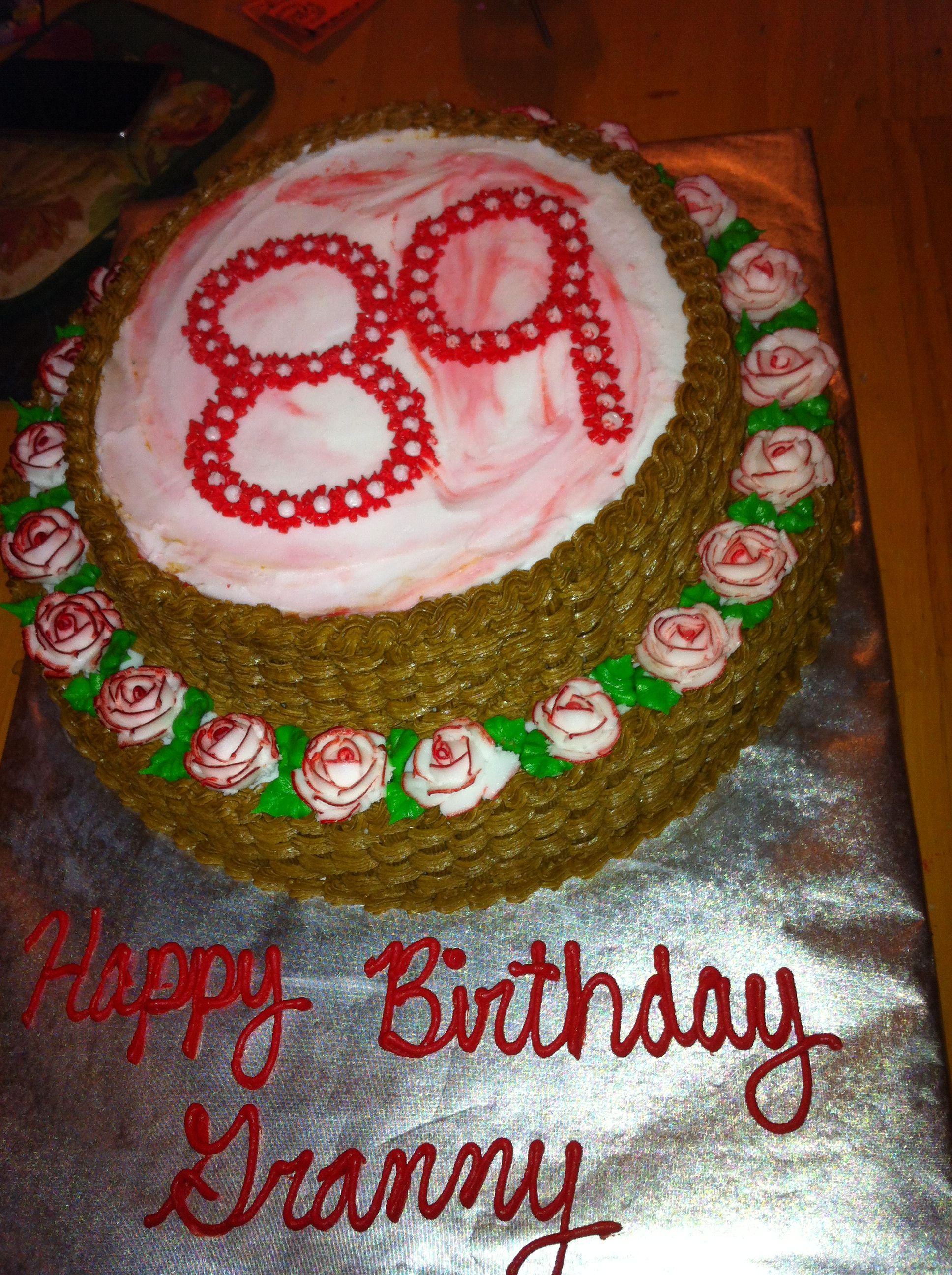 89th Birthday Cake 1031 Cake Decorating Pinterest Birthday