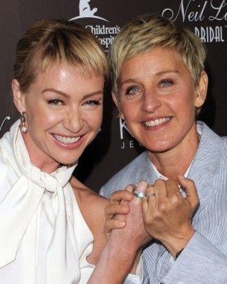 Portia de Rossi and Ellen DeGeneres Martha Stewart Weddings